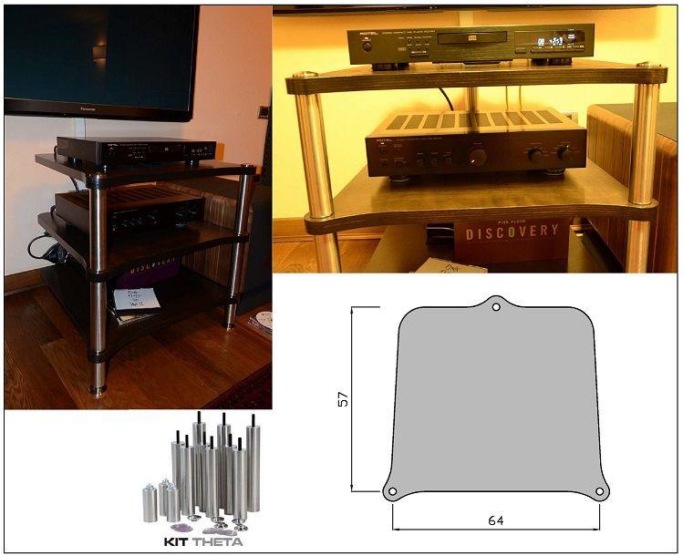 Tavolini hi fi : √ tavolino hi fi modular technology theta occasione usato